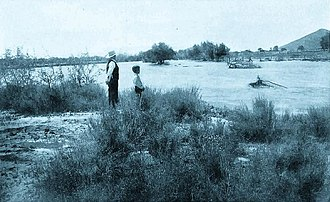 Santa Cruz River (Arizona) - Image: Santa Cruz River Flood Tucson Arizona Circa 1903