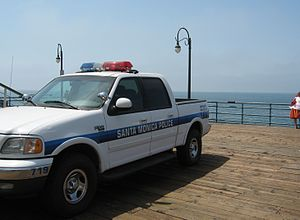 Santa Monica Police Department - Police vehicle on the Santa Monica Pier
