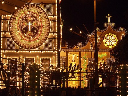 The illuminated Convent and Shrine of the Lord Holy Christ of the Miracles. Santuario de Senhor Santo Cristo (4616740146).jpg