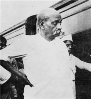 Vallabhbhai Patel in Bardoli, 1928.