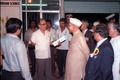Saroj Ghose Describes Indian Heritage Exhibition to Shankar Dayal Sharma - Dedication Ceremony - CRTL and NCSM HQ - Salt Lake City - Calcutta 1993-03-13 08.tif