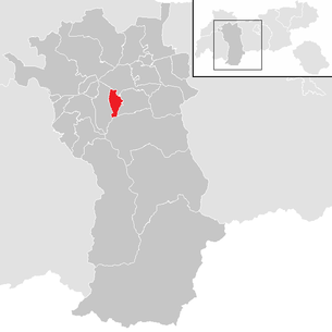 Location of the municipality of Sautens in the Imst district (clickable map)