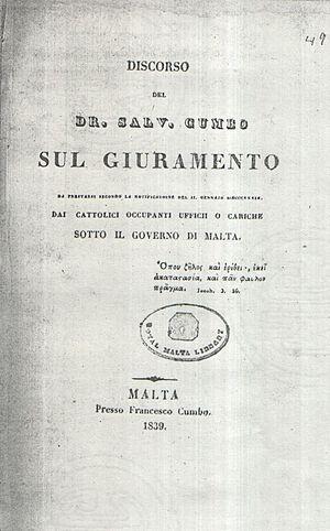 Saviour Cumbo - Sul Giuramento (1839) of Saviour Cumbo