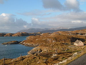 Scalpay, Outer Hebrides - Scalpay, looking roughly west to the North Harris hills.
