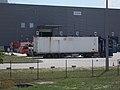 Scania streamline and a crane truck at Suez Water Ltd. Plant, 2018 Oroszlány.jpg