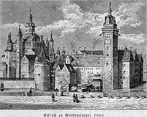 Conrad Buno - Schloss Wolfenbüttel 1650 engraving after Conrad Buno