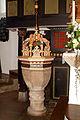 Schlosskirche St. Sankt Marien der Hämelschenburg Taufbecken.jpg