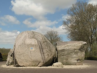 Glacial erratic - Glacial erratics from Norway on Schokland in the Netherlands.