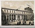 School of Medicine, Paris. Tinted lithograph. Wellcome V0014279.jpg