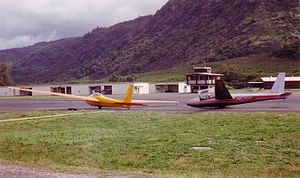 Dillingham Airfield - Two Schweizer SGS 2-32s used for tourist flights, Dillingham Airfield Oahu, 1993