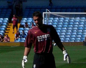 Scott Carson - Carson training with Aston Villa in 2007