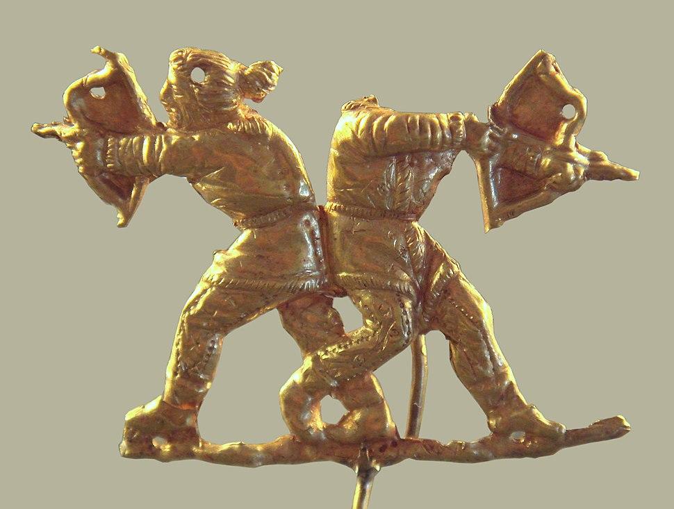 Scythians shooting with bows Kertch antique Panticapeum Ukrainia 4th century BCE