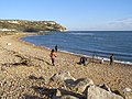 Sea fishing on Ringstead Beach - geograph.org.uk - 266901.jpg