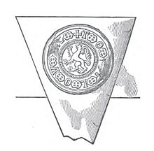 Sceau de Henry Percy, 5e comte de Northumberland en 1515.jpg