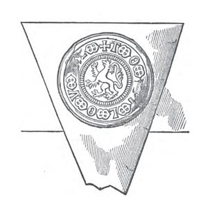 Henry Percy, 5th Earl of Northumberland - Seal of Henry Percy,  5th Earl of Northumberland, in 1515