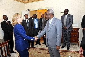 Ali Osman Taha - Image: Secretary Clinton Shakes Hands With Sudanese Vice President Ali Osman Taha