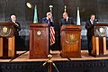 Secretary Kerry, UN Secretary-General Ban Join Egyptian and Arab League Leaders at Gaza Strip Cease-Fire News Conference in Cairo (14558148230).jpg