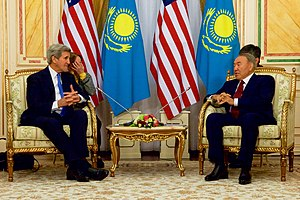 Kazakhstan–United States relations - Secretary Kerry Meets With Kazakhstan President Nazarbayev in Astana, 2015
