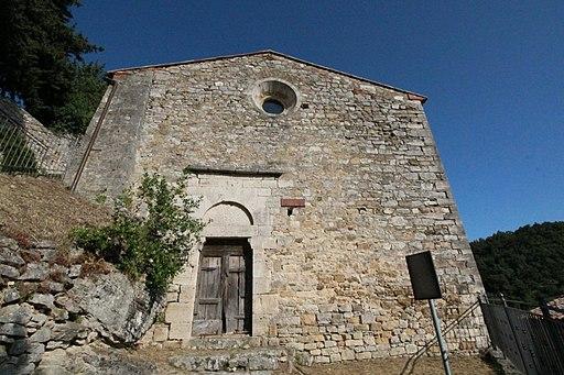 Semproniano, Pieve di Santa Cristina, facciata, Rocchette di Fazio