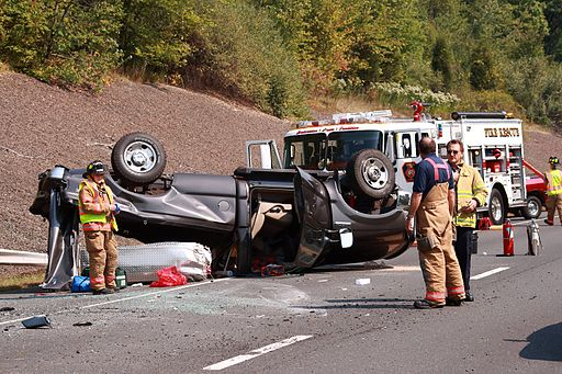 September 26, 2007 accident, highway 9, CT, flipped truck