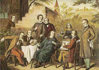 Alexander of Württemberg (1801–1844) - The Serach Poet Circle - Alexander is fourth from left