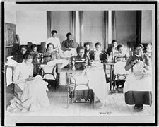 Sewing class at the Agricultural and Mechanical College, Greensboro, N.C..jpg