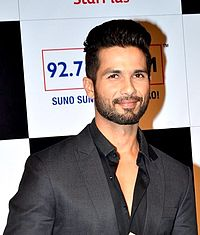 Shahid Kapoor looks away from the camera.