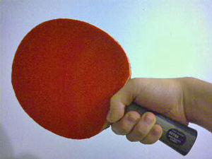 Table tennis racket - Image: Shakehand 1