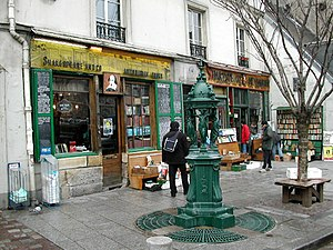 Independent bookstore - Shakespeare and Company in Paris 2004