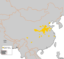 Location of the Shang dynasty state