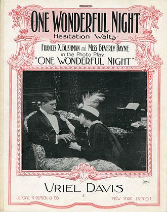 One Wonderful Night - sheet music cover
