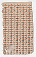 Sheet with overall blue and red diamond pattern Met DP886654.jpg