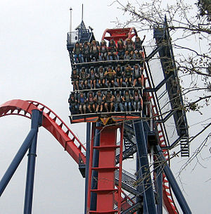 "Busch Gardens - SheiKra was the first ""dive machine"" roller coaster in the United States."