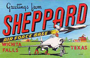 Sheppard Air Force Base - Sheppard AFB postcard from around 1953