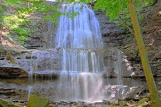 Sherman Falls waterfall in Ontario, Canada