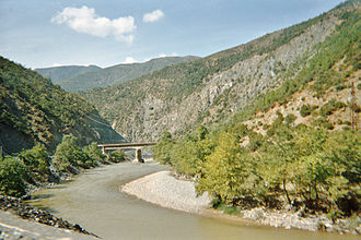 Shkumbin - Shkumbin Gorge between Librazhd and Elbasan