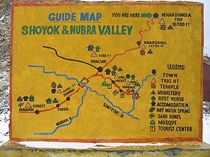 Shyok River - Sort of a map