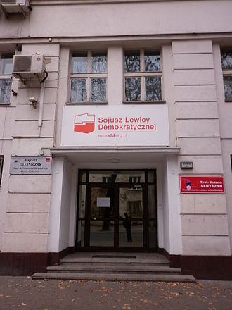 Social Democracy of the Republic of Poland -  The former headquarters of Social Democracy of the Republic of Poland (now HQ of the Democratic Left Alliance) in Rozbrat street in Warsaw