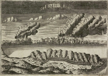 The final days of the siege of Vyborg, by Alexei Rostovtsev Siege of Vyborg 1710.png