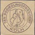 Siegelmarke Der Regierungspräsident Köln W0390837.jpg
