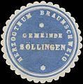 Siegelmarke Gemeinde Söllingen H. Braunschweig W0382778.jpg