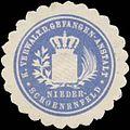Siegelmarke K. Verwaltung der Gefangenen-Anstalt Niederschoenenfeld W0352334.jpg