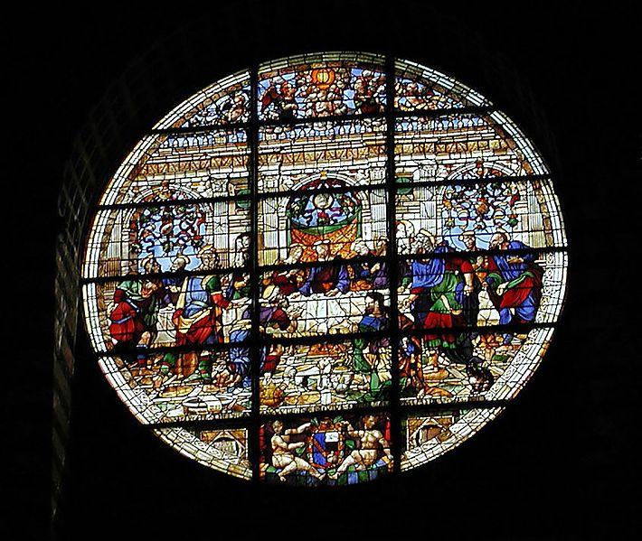 witraż katedry w Sienie