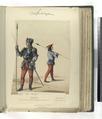 Siglo XV (Año 1493). Lancero, Coselete de mesnada realenga armado a la suiza; Lancero de mesnada señorial (NYPL b14896507-87424).tiff