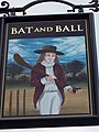 Sign for the Bat and Ball, Breamore - geograph.org.uk - 688578.jpg