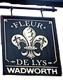 Sign for the Fleur-de-Lys - geograph.org.uk - 1560495.jpg