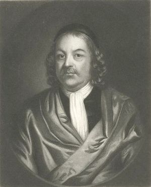 Simon Bradstreet - Engraving based on a painting in the Massachusetts State House