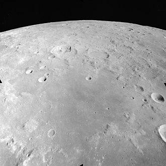 Sinus Amoris - Apollo 17 image of northern Sinus Amoris, with Römer above left of center.