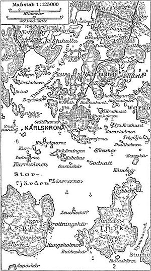 Karlskrona - Historic Map