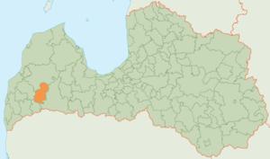 Skrunda Municipality - Image: Skrundas novada karte